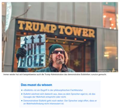 Demonstrativer Bullshit in der politischen Kommunikation