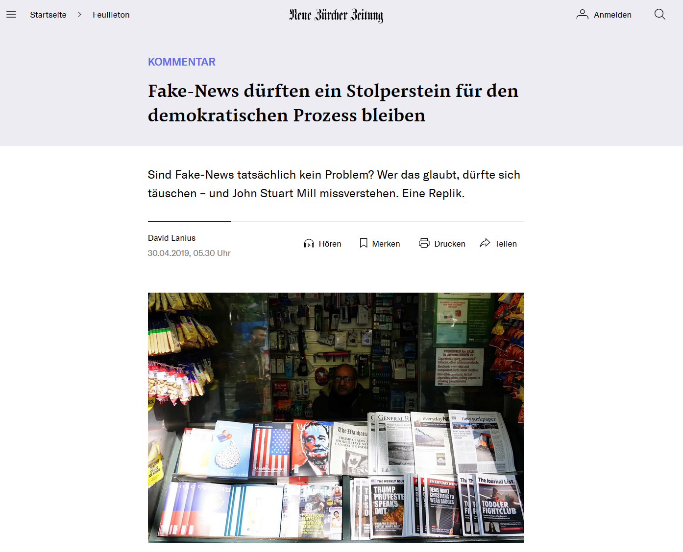 Sind Fake-News tatsächlich kein Problem?