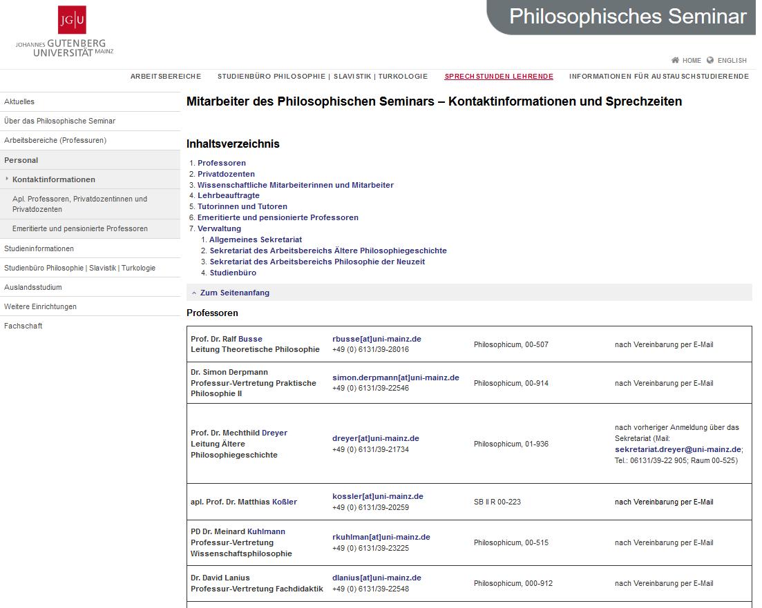 Vertretung der Professur für Fachdidaktik der Philosophie an der Johannes-Gutenberg Universität Mainz